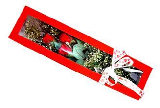 Edirne 14 şubat sevgililer günü çiçek  Kutuda 3 adet gül