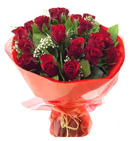 Edirne çiçek gönderme sitemiz güvenlidir  11 adet kimizi gülün ihtisami buket modeli