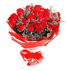 Edirne çiçek satışı  12 adet kırmızı güllerden görsel buket