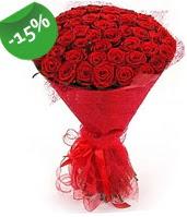 51 adet kırmızı gül buketi özel hissedenlere  Edirne hediye sevgilime hediye çiçek