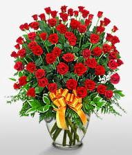 Görsel vazo içerisinde 101 adet gül  Edirne yurtiçi ve yurtdışı çiçek siparişi