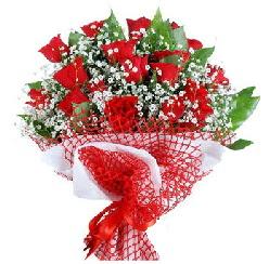 11 kırmızı gülden buket  Edirne İnternetten çiçek siparişi