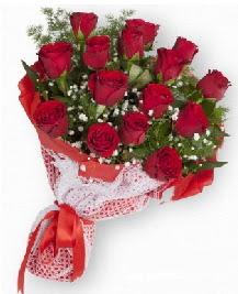 11 kırmızı gülden buket  Edirne ucuz çiçek gönder