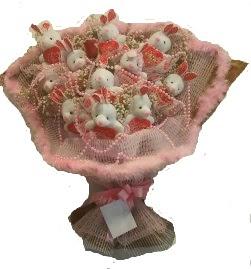 12 adet tavşan buketi  Edirne çiçek satışı
