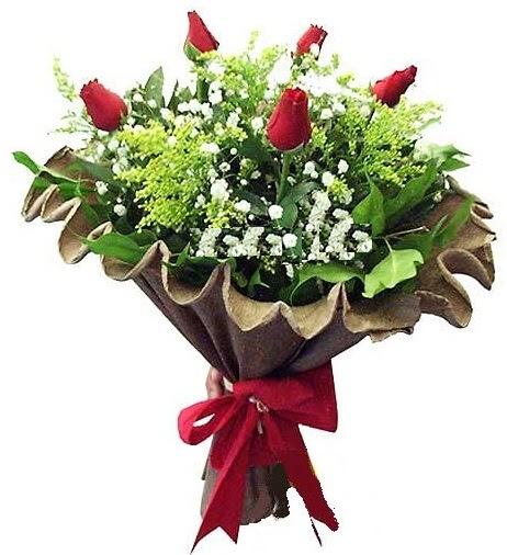 5 adet gülden buket  Edirne çiçekçiler