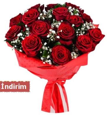 12 Adet kırmızı aşk gülleri  Edirne cicek , cicekci