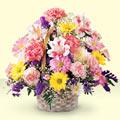 Edirne çiçek yolla , çiçek gönder , çiçekçi   sepet içerisinde gül ve mevsim