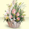 Edirne İnternetten çiçek siparişi  sepette pembe güller