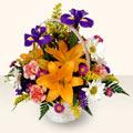 Edirne İnternetten çiçek siparişi  sepet içinde karisik çiçekler