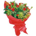 10 adet kirmizi gül buketi  Edirne internetten çiçek siparişi