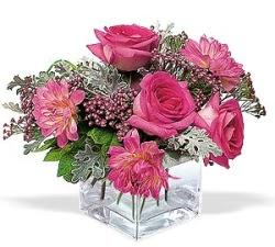 Edirne online çiçekçi , çiçek siparişi  cam içerisinde 5 gül 7 gerbera çiçegi