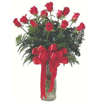 12 adet gül cam içerisinde  Edirne online çiçekçi , çiçek siparişi
