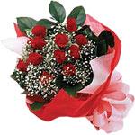 Edirne çiçek online çiçek siparişi  KIRMIZI AMBALAJ BUKETINDE 12 ADET GÜL