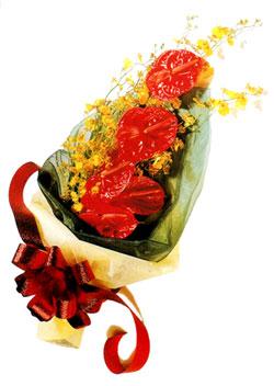 özel 5 adet antorium buketi   Edirne çiçekçiler