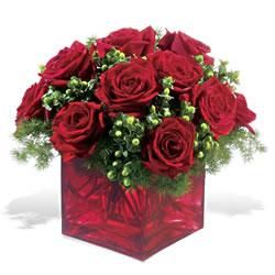 Edirne internetten çiçek siparişi  9 adet kirmizi gül cam yada mika vazoda