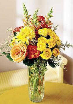 Edirne İnternetten çiçek siparişi  mika yada cam içerisinde karisik mevsim çiçekleri
