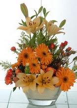 Edirne çiçekçi telefonları  cam yada mika vazo içinde karisik mevsim çiçekleri