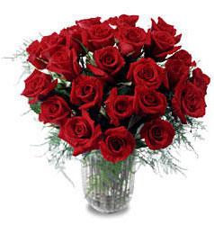 Edirne çiçekçiler  11 adet kirmizi gül cam yada mika vazo içerisinde