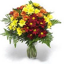 Edirne hediye sevgilime hediye çiçek  Karisik çiçeklerden mevsim vazosu