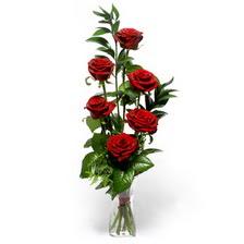 Edirne çiçek yolla , çiçek gönder , çiçekçi   mika yada cam vazoda 6 adet essiz gül