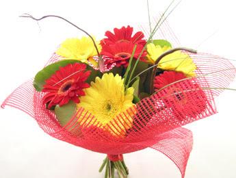 9 adet gerbera çiçeklerinden buket  Edirne cicek , cicekci