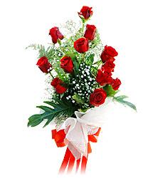 11 adet kirmizi güllerden görsel sölen buket  Edirne kaliteli taze ve ucuz çiçekler