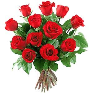 11 adet bakara kirmizi gül buketi  Edirne ucuz çiçek gönder