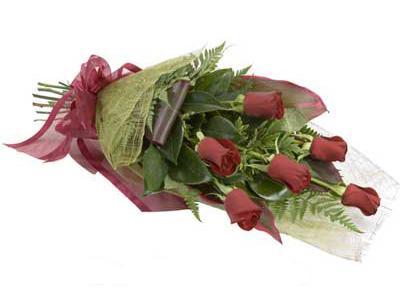 ucuz çiçek siparisi 6 adet kirmizi gül buket  Edirne hediye sevgilime hediye çiçek