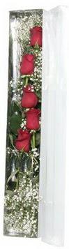 Edirne hediye sevgilime hediye çiçek   5 adet gülden kutu güller