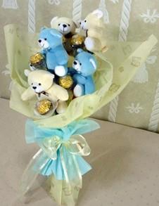 6 adet ayiciktan buket tanzimi  Edirne online çiçekçi , çiçek siparişi