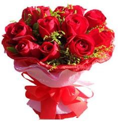 9 adet kirmizi güllerden kipkirmizi buket  Edirne çiçek servisi , çiçekçi adresleri