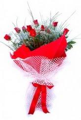 Edirne internetten çiçek satışı  9 adet kirmizi gül buketi demeti