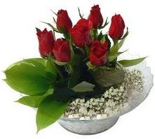 Edirne çiçek online çiçek siparişi  cam yada mika içerisinde 5 adet kirmizi gül