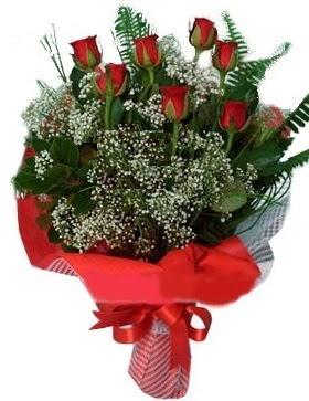 7 kırmızı gül buketi  Edirne çiçekçi telefonları