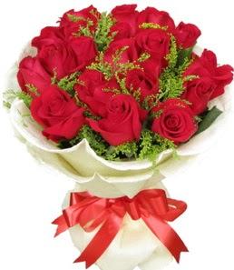 19 adet kırmızı gülden buket tanzimi  Edirne çiçekçi telefonları