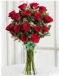 Cam vazo içerisinde 11 kırmızı gül vazosu  Edirne çiçek gönderme sitemiz güvenlidir