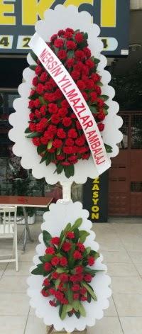 Çift katlı düğün nikah çiçeği modeli  Edirne 14 şubat sevgililer günü çiçek