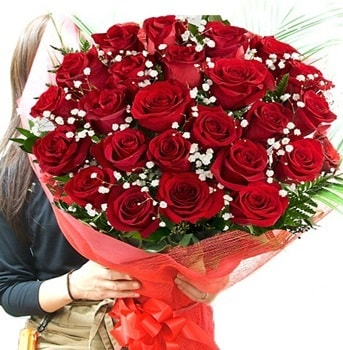 Kız isteme çiçeği buketi 33 adet kırmızı gül  Edirne çiçekçiler