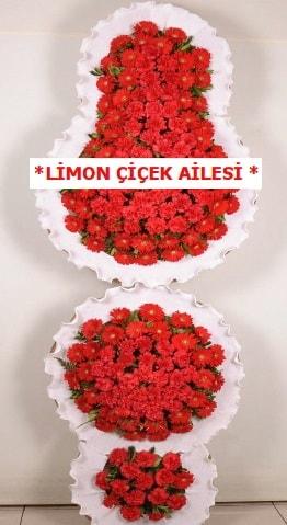 3 katlı kırmızı düğün açılış çiçeği  Edirne çiçek siparişi vermek