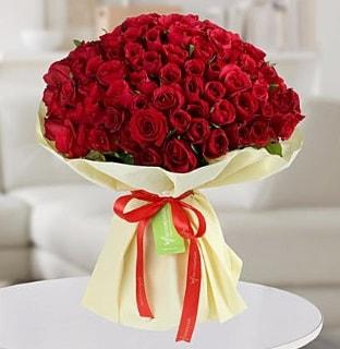 101 adet kırmızı gül buketi koca demet  Edirne çiçek mağazası , çiçekçi adresleri