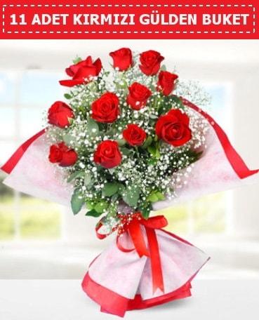 11 Adet Kırmızı Gül Buketi  Edirne çiçek mağazası , çiçekçi adresleri